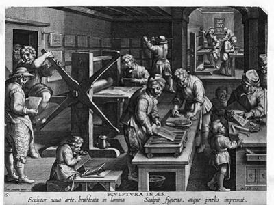 Illustration of a Printing Shop
