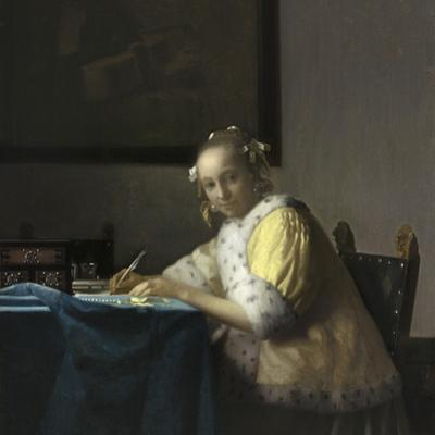 A Lady Writing, C. 1665 by Johannes Vermeer