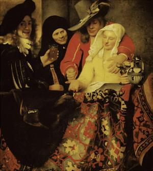 At the Procuress by Johannes Vermeer