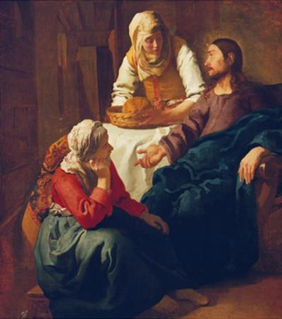 Christ in the Home of Martha and Mary, about 1654 by Johannes Vermeer