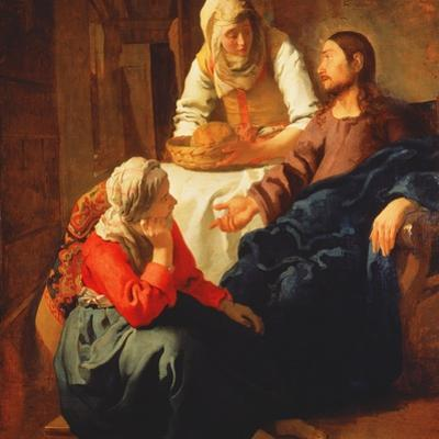 Christ in the House of Martha and Mary, C.1654-56 by Johannes Vermeer
