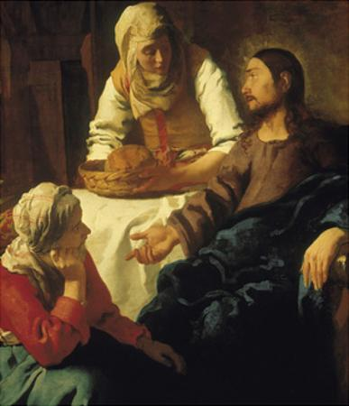 Christ in the House of Mary & Martha by Johannes Vermeer