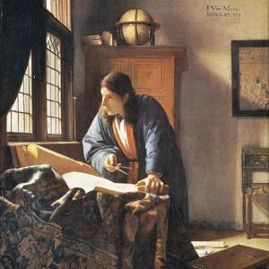Geographer, 1669 by Johannes Vermeer