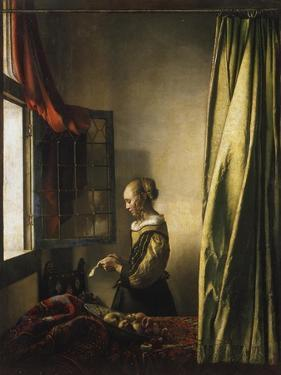 Girl at a Window Reading a Letter, about 1658 by Johannes Vermeer