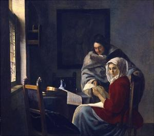 Girl Interrupted in Her Music by Johannes Vermeer