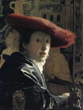 Girl with a Red Hat by Johannes Vermeer