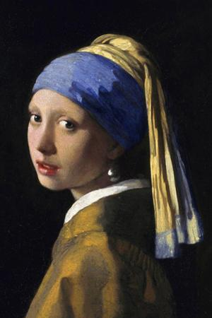 Johannes Vermeer Girl with a Pearl Earring Plastic Sign by Johannes Vermeer