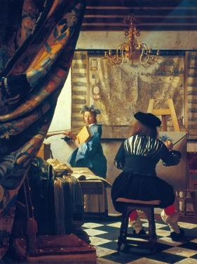 The Art of Painting (The Artist's Studio). About Um 1666/68 by Johannes Vermeer