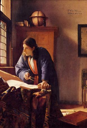 Johannes Vermeer The Geographer Art Print Poster