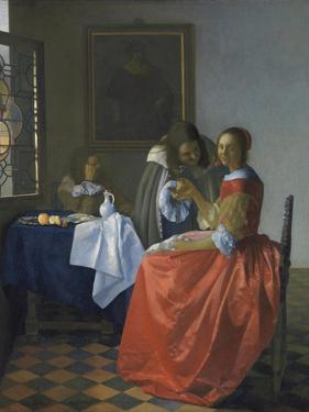 The Girl with the Wineglass by Johannes Vermeer