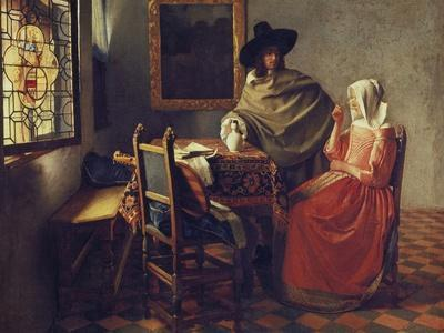 The Glass Of Wine, C.1658 1660 By Johannes Vermeer