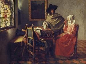 The Glass of Wine, C.1658-1660 by Johannes Vermeer