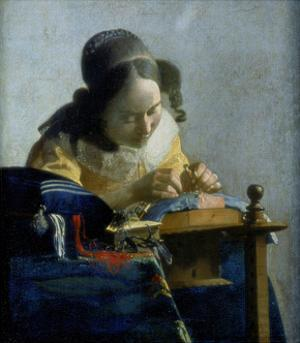 The Lace Maker, C1664 by Johannes Vermeer