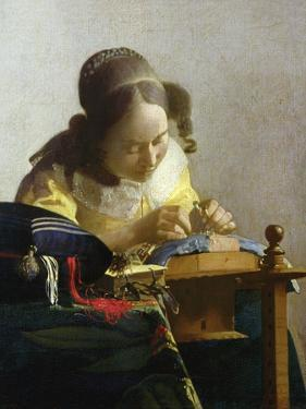 The Lacemaker, 1669-70 by Johannes Vermeer