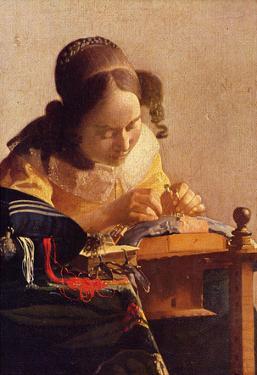 Johannes Vermeer The Lacemaker Art Print Poster