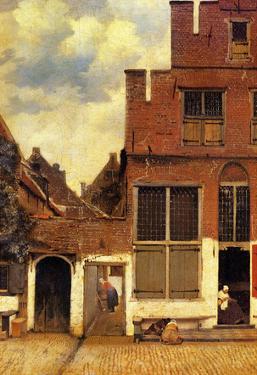 Johannes Vermeer The Little Street Art Print Poster