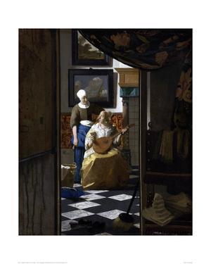 The Love Letter by Johannes Vermeer