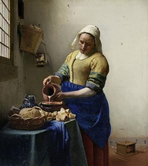 The Milkmaid, 1660 by Johannes Vermeer