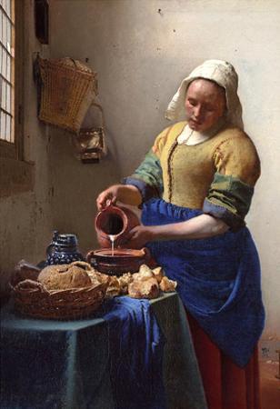 Johannes Vermeer The Milkmaid Art Print Poster