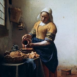 The Milkmaid, C1658 by Johannes Vermeer