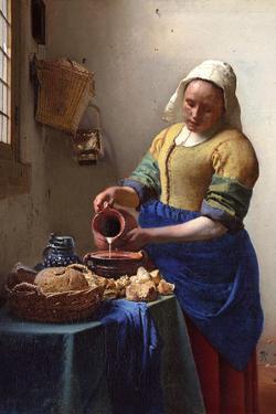 Johannes Vermeer The Milkmaid Plastic Sign