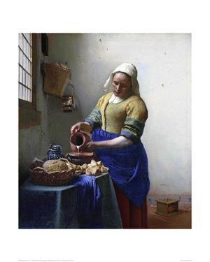 The Milkmaid by Johannes Vermeer