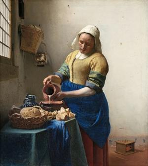 The Milkmaid by Johannes Vermeer