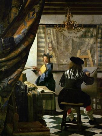 The Painter (Vermeer's Self-Portrait) and His Model as Klio by Johannes Vermeer