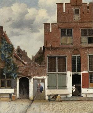 View of Houses in Delft, 1658 by Johannes Vermeer