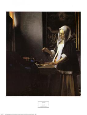 Woman Holding a Balance, c.1664 by Johannes Vermeer