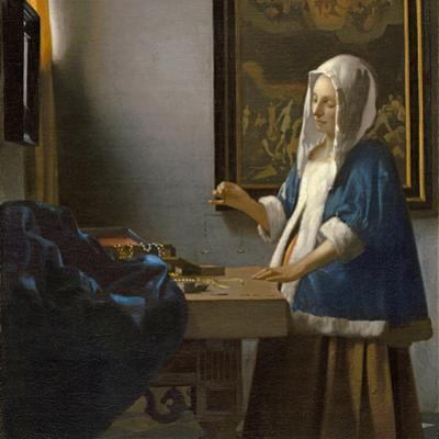 Woman Holding a Balance, C.1664 by Johannes Vermeer