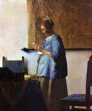 Woman in Blue Reading by Johannes Vermeer