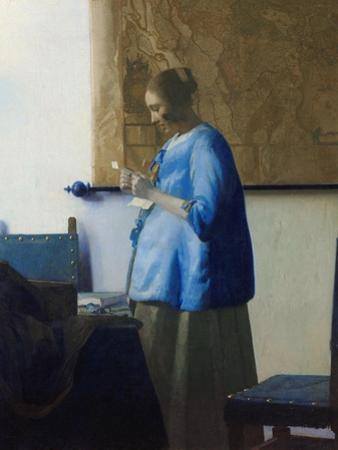 Woman Reading a Letter by Johannes Vermeer