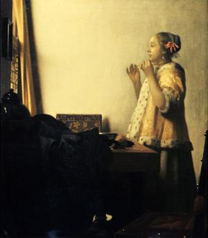 Young Lady with a Pearl Necklace by Johannes Vermeer