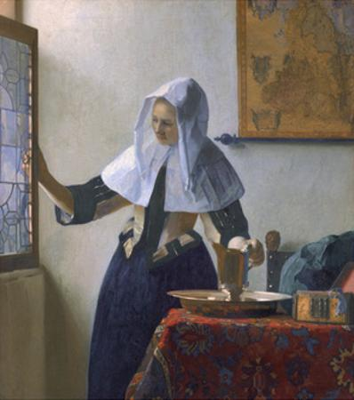 Young Woman with a Water Pitcher by Johannes Vermeer