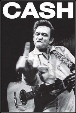 Johhny Cash Middle Finger Music Poster