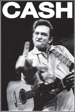 Johhny Cash Middle Finger Music Poster