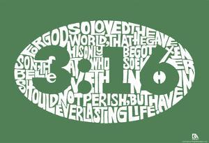 John 3:16 Text Poster