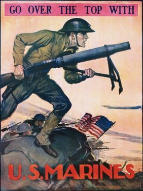 Go over the Top with the U.S. Marines Recruitment Poster by John A. Coughlin