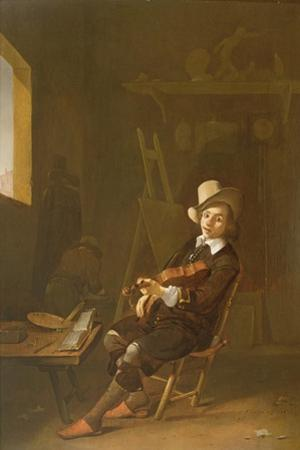 Self Portrait of the Artist Playing a Violin