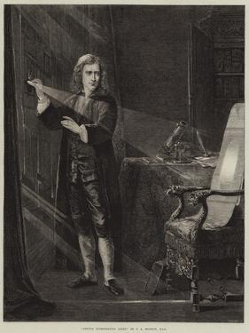 Newton Investigating Light by John Adam P. Houston