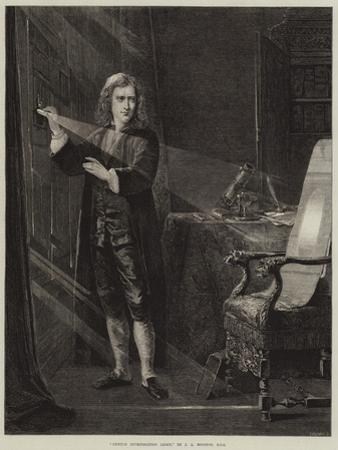 Newton Investigating Light