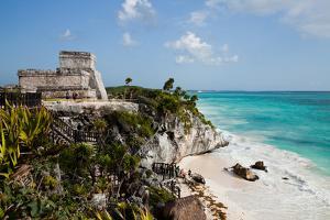 El Castillo at Tulum, Yucatan, Mexico, North America by John Alexander