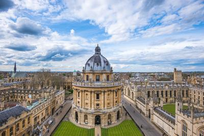 Radcliffe Camera and the View of Oxford from St. Mary's Church, Oxford, Oxfordshire