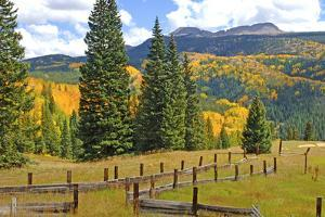 Old Wooden Fence and Autumn Colors in the San Juan Mountains of Colorado by John Alves