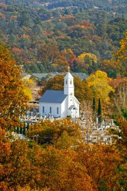 St. Sava Serbian Church and Cemetery in Jackson, California Surrounded by Fall Colors by John Alves