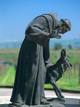 Statue of St. Francis of Assisi at the Viansa Winery, Sonoma County, California, USA by John Alves