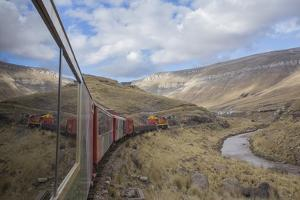 Tourist Train High in Andes above Lima, Peru by John and Lisa Merrill