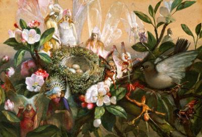 Fairies Round a Bird's Nest, the Distressed Mother