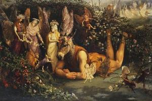 Titania and Bottom, from a Midsummer Night's Dream by John Anster Fitzgerald